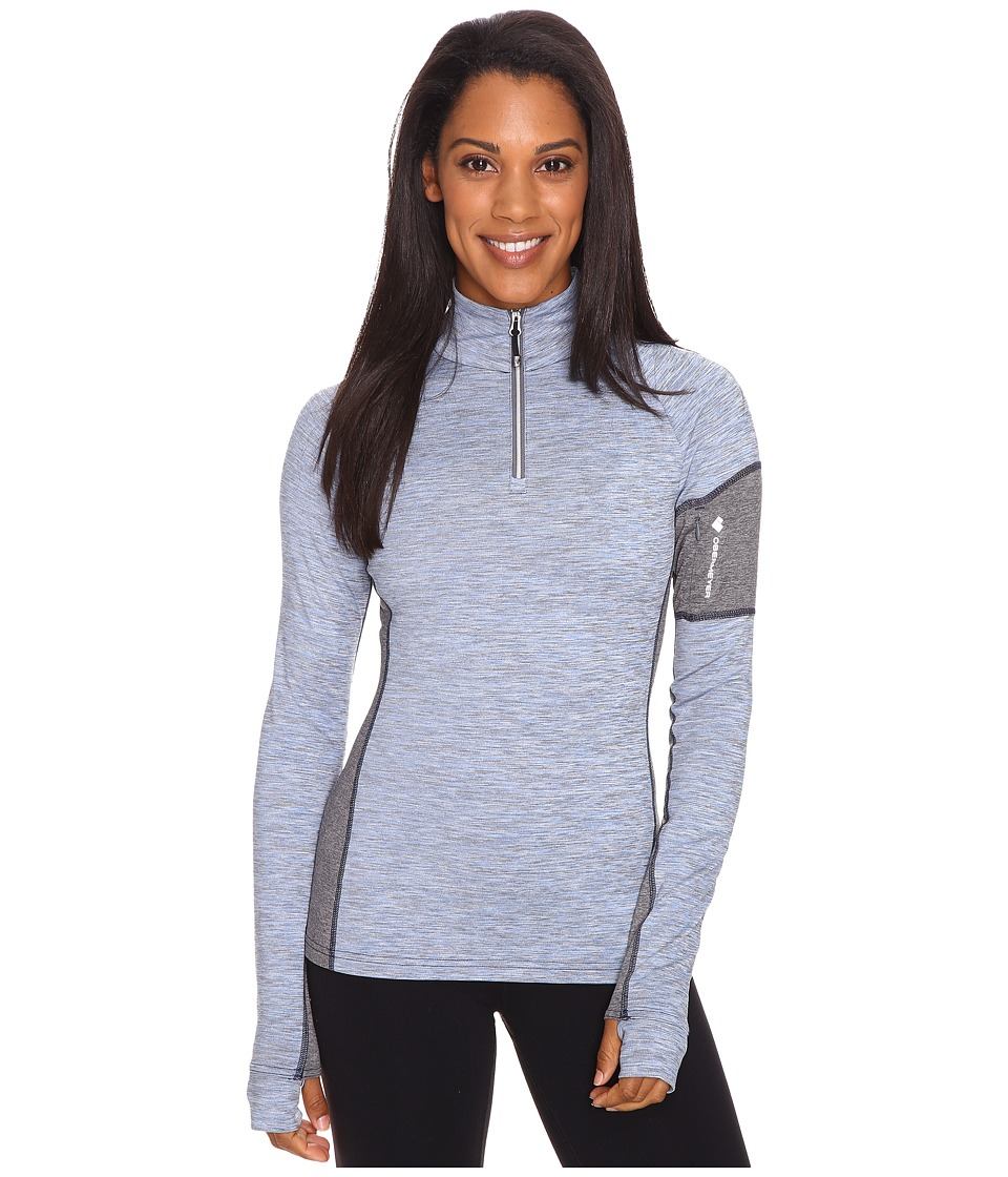 Obermeyer Nora Baselayer Zip Top (Storm Cloud) Women