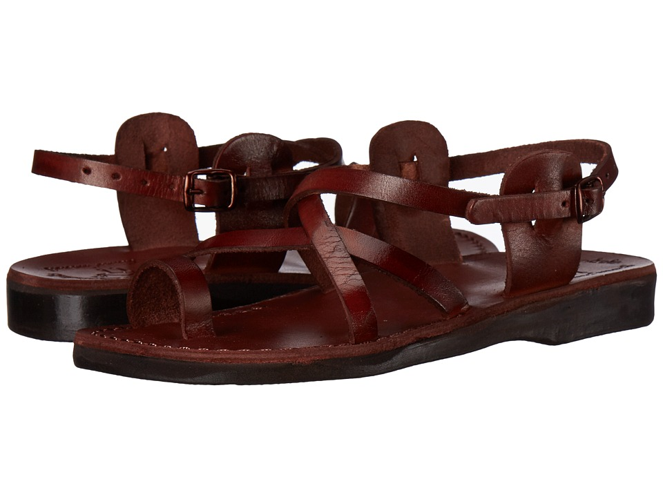 Jerusalem Sandals The Good Shepherd Buckle Womens Brown Womens Shoes