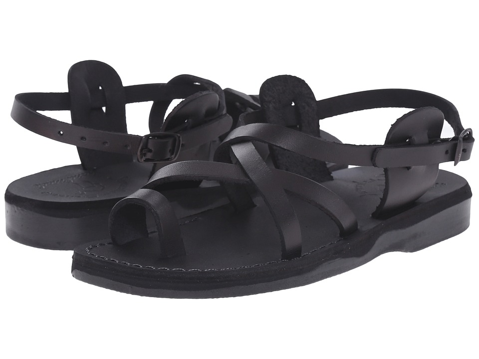 Jerusalem Sandals The Good Shepherd Buckle Womens Black Womens Shoes