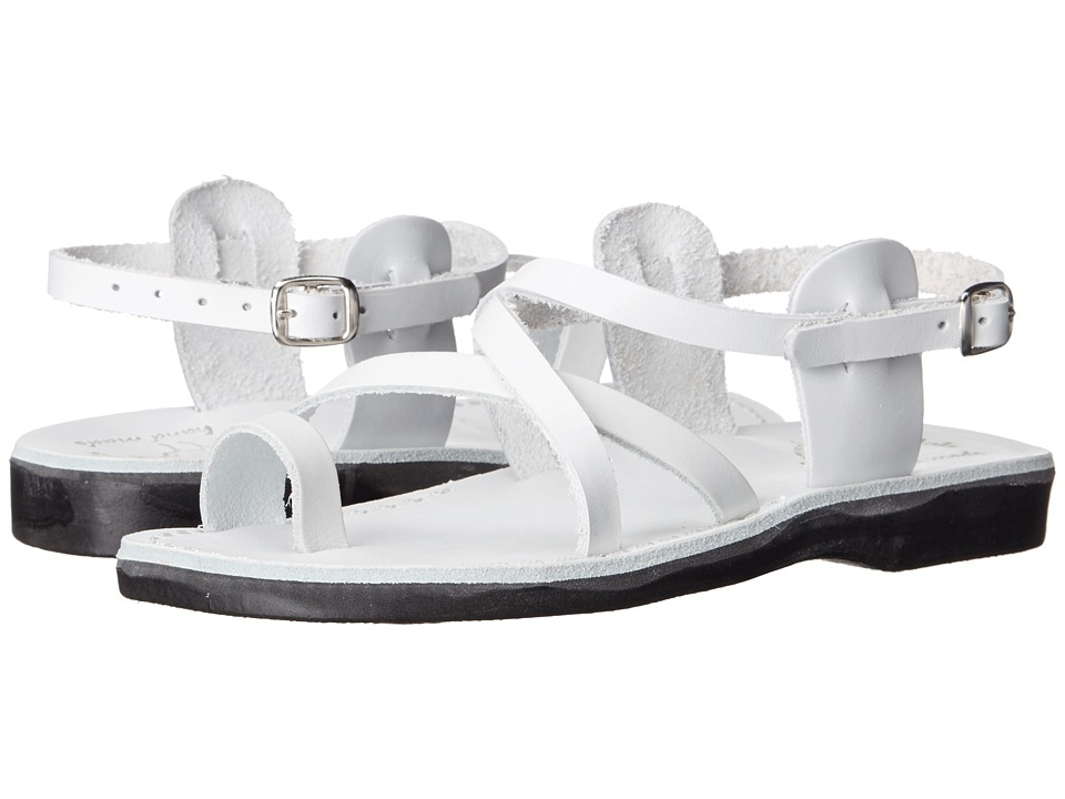 Jerusalem Sandals The Good Shepherd Buckle Womens White Womens Shoes