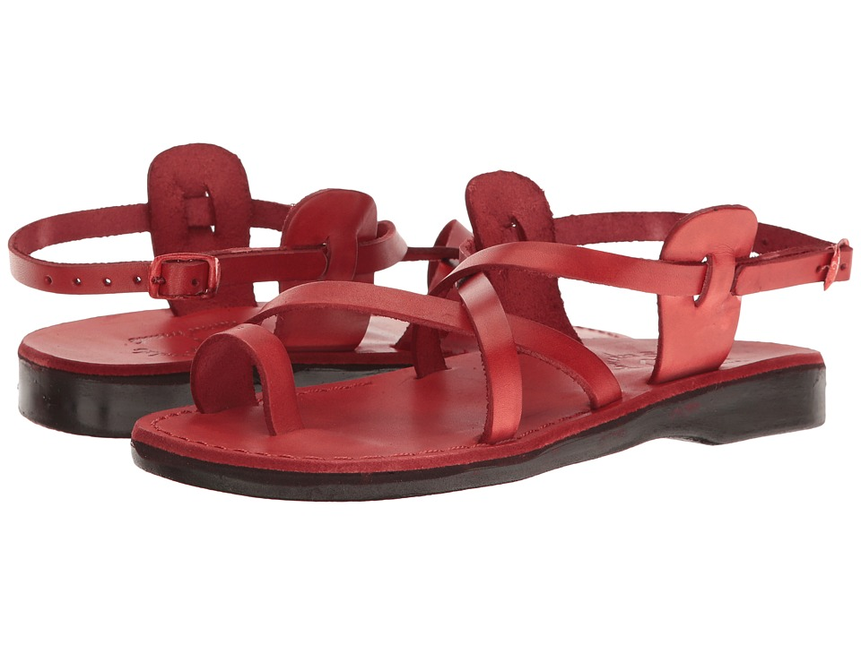 Jerusalem Sandals - The Good Shepherd Buckle - Womens (Red) Womens Shoes