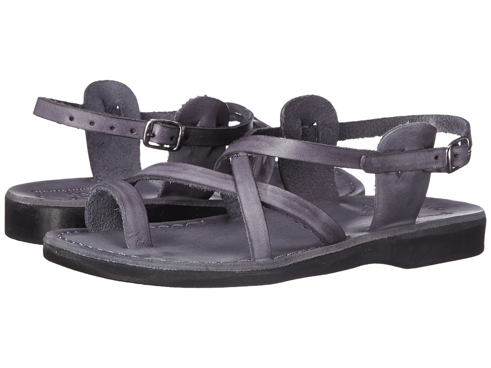 Jerusalem Sandals The Good Shepherd Buckle Womens Gray Womens Shoes