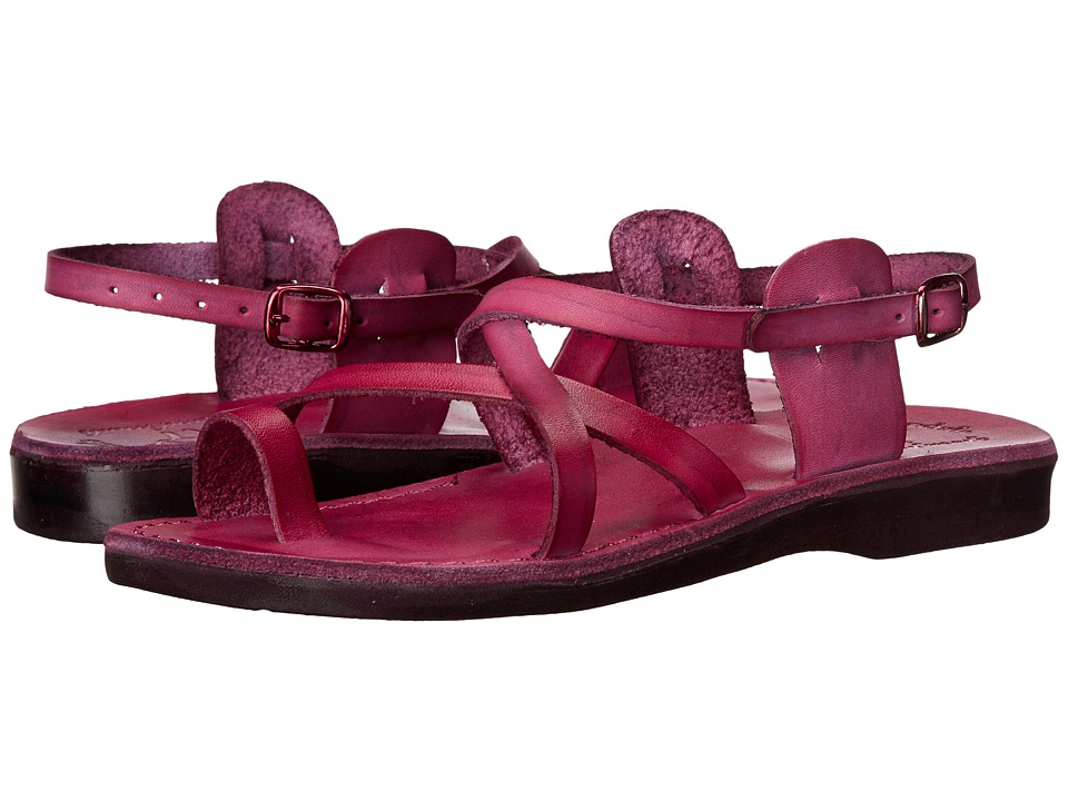 Jerusalem Sandals The Good Shepherd Buckle Womens Violet Womens Shoes