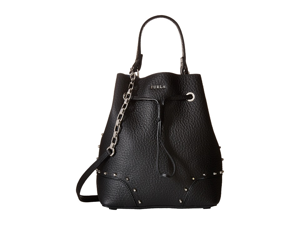 Furla - Stacy Rock Small Drawstring (Onyx) Drawstring Handbags
