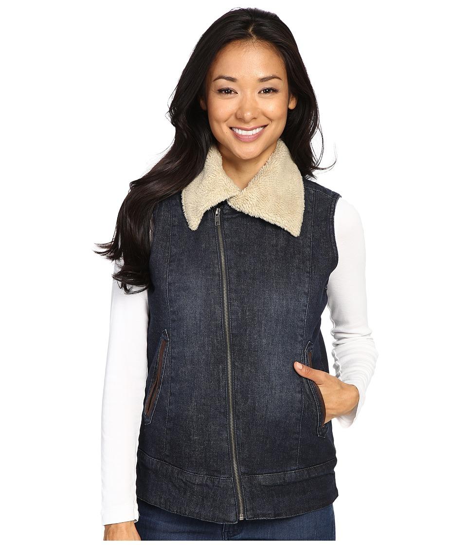 Mountain Khakis - Ranch Shearling Vest (Dark Denim) Women