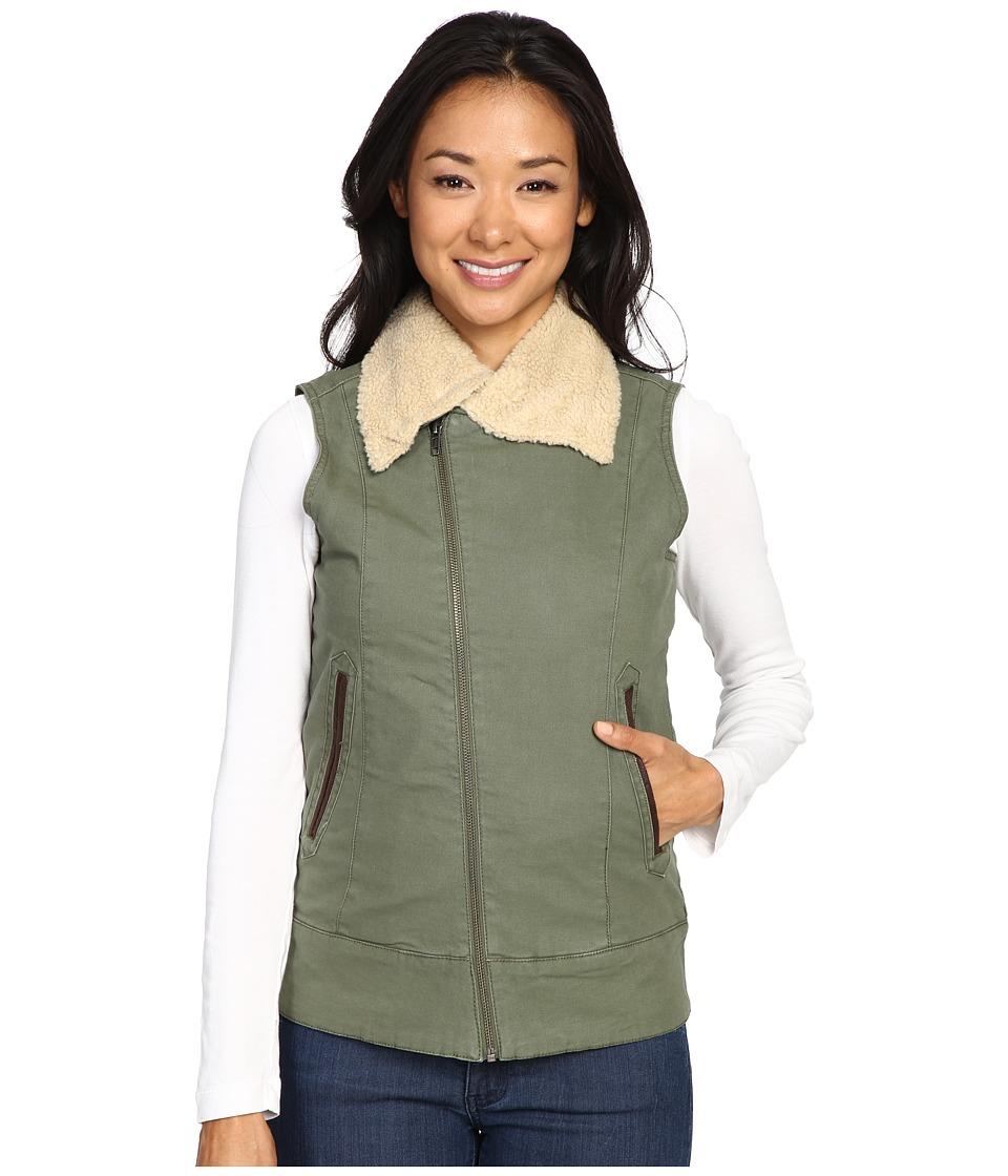 Mountain Khakis Ranch Shearling Vest (Olive Drab) Women