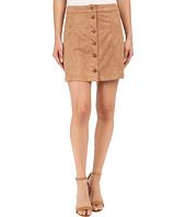 Brigitte Bailey - Addy Micro Suede Button Up Skirt
