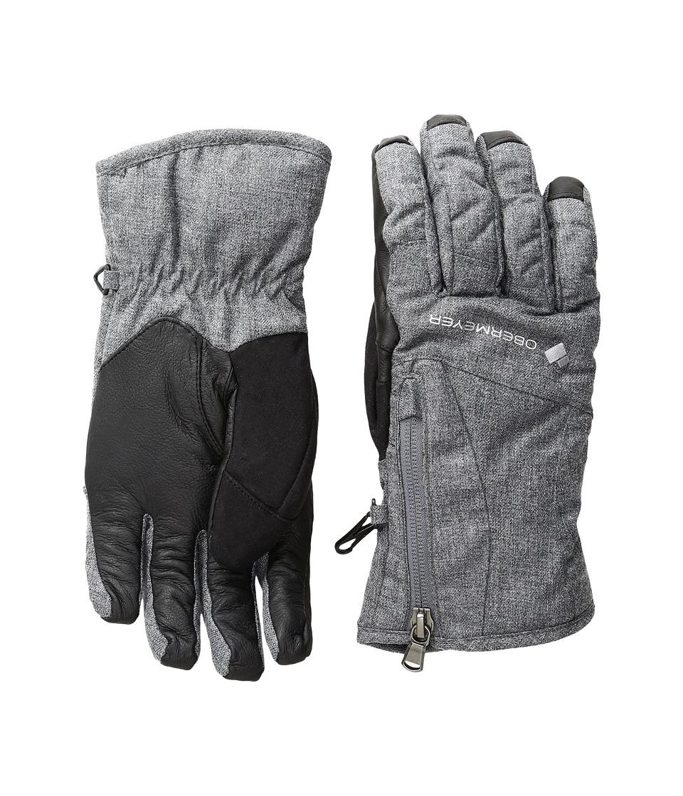Obermeyer Alpine Glove (Light Heather Grey) Extreme Cold Weather Gloves