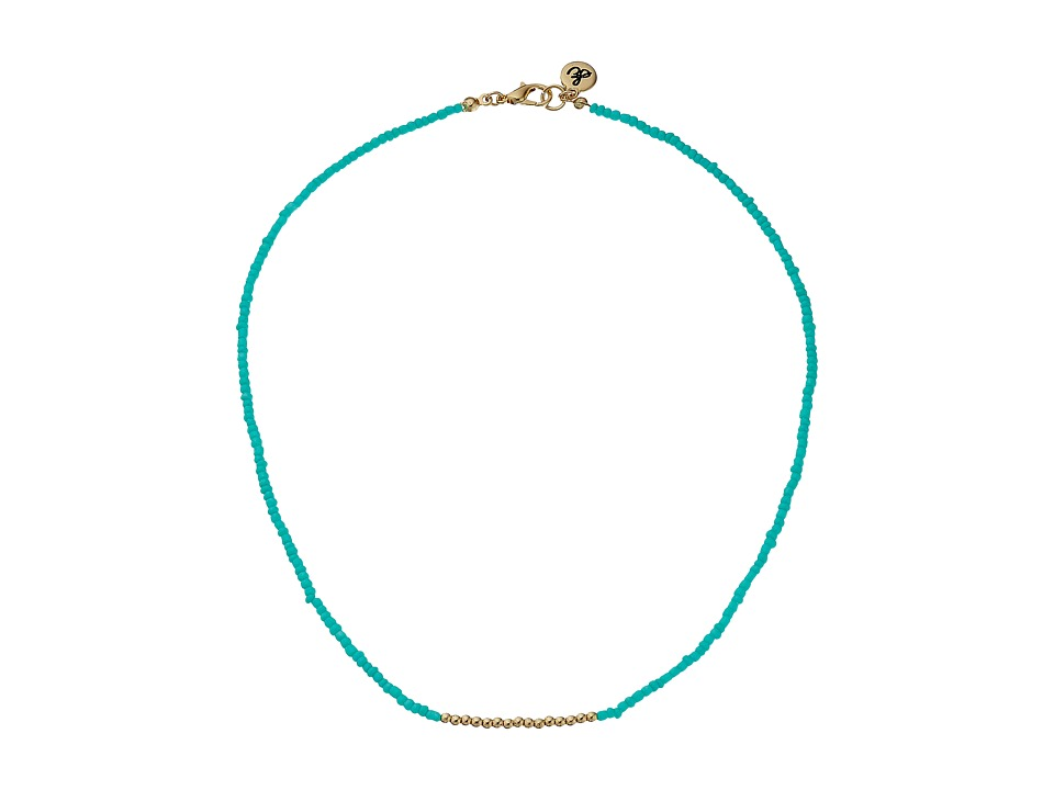 Sam Edelman Color Block Bead Necklace 16 Turquoise Necklace