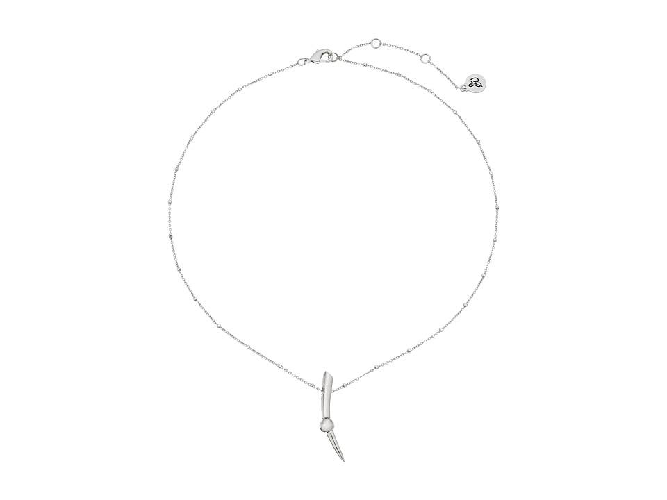Sam Edelman Bead Spear Pendant Necklace 16 Rhodium Necklace
