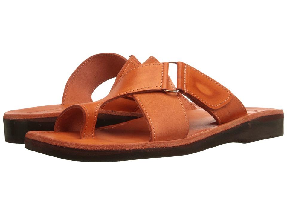 Jerusalem Sandals Asher Orange Womens Shoes