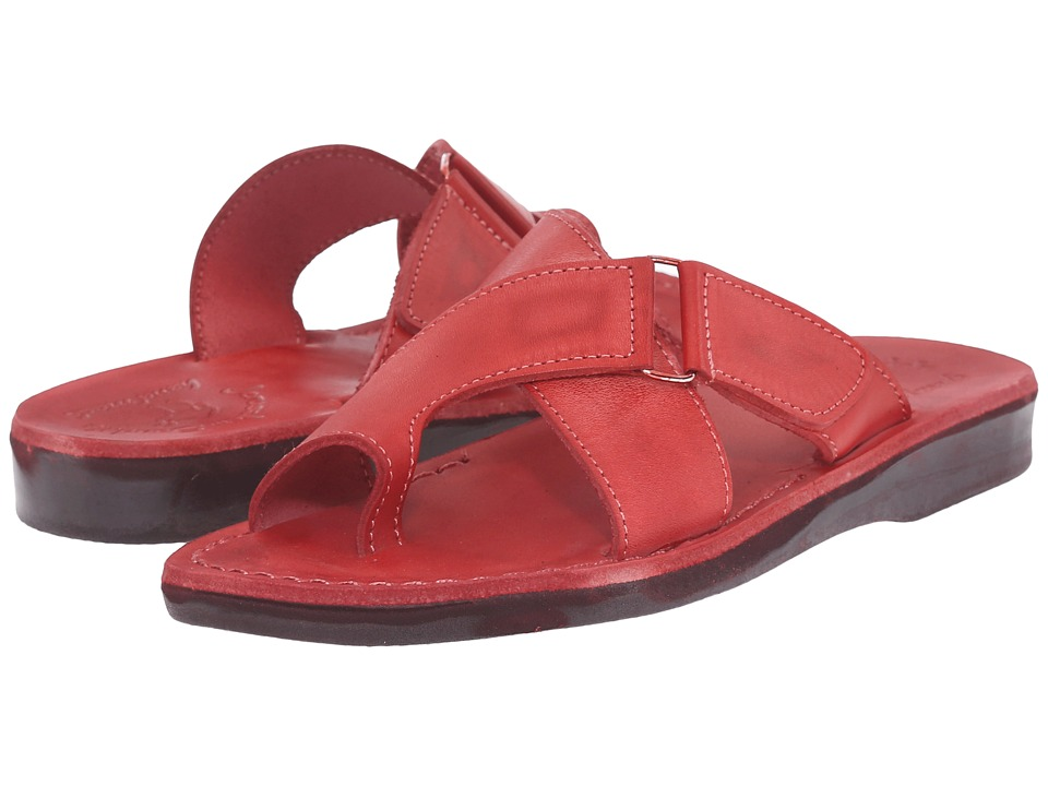 Jerusalem Sandals Asher Red Womens Shoes
