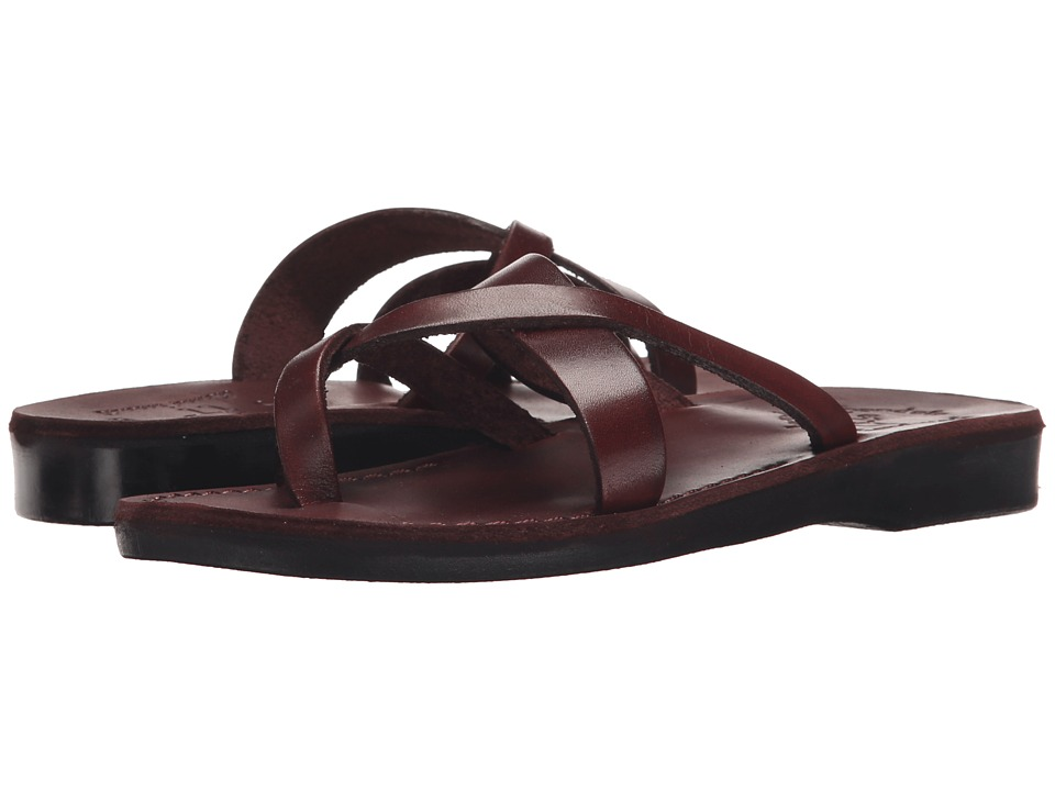 Jerusalem Sandals Abigail Womens Brown Womens Wedge Shoes