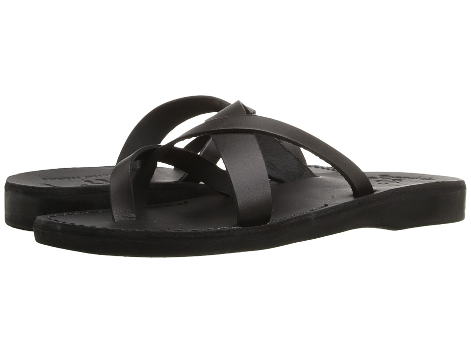 Jerusalem Sandals Abigail Womens Black Womens Wedge Shoes
