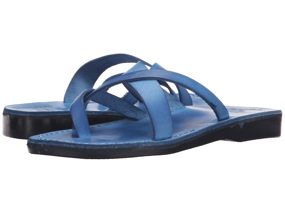 Jerusalem Sandals Abigail Womens Blue Womens Wedge Shoes