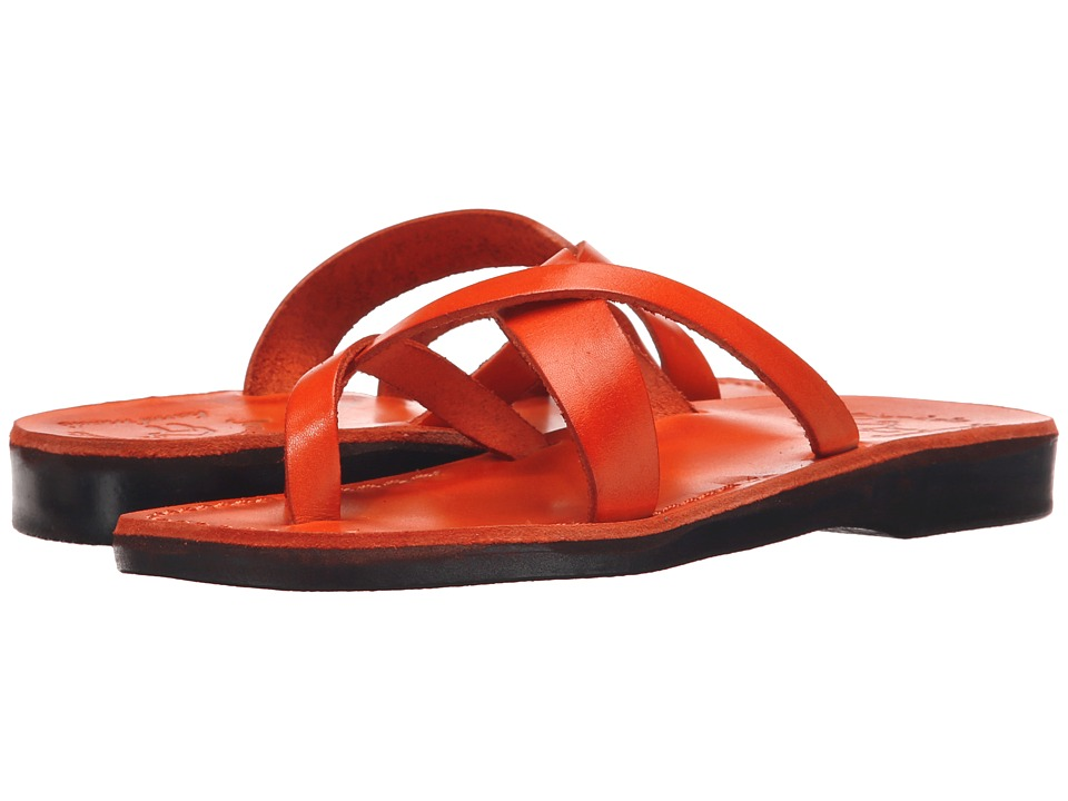 Jerusalem Sandals Abigail Womens Orange Womens Wedge Shoes