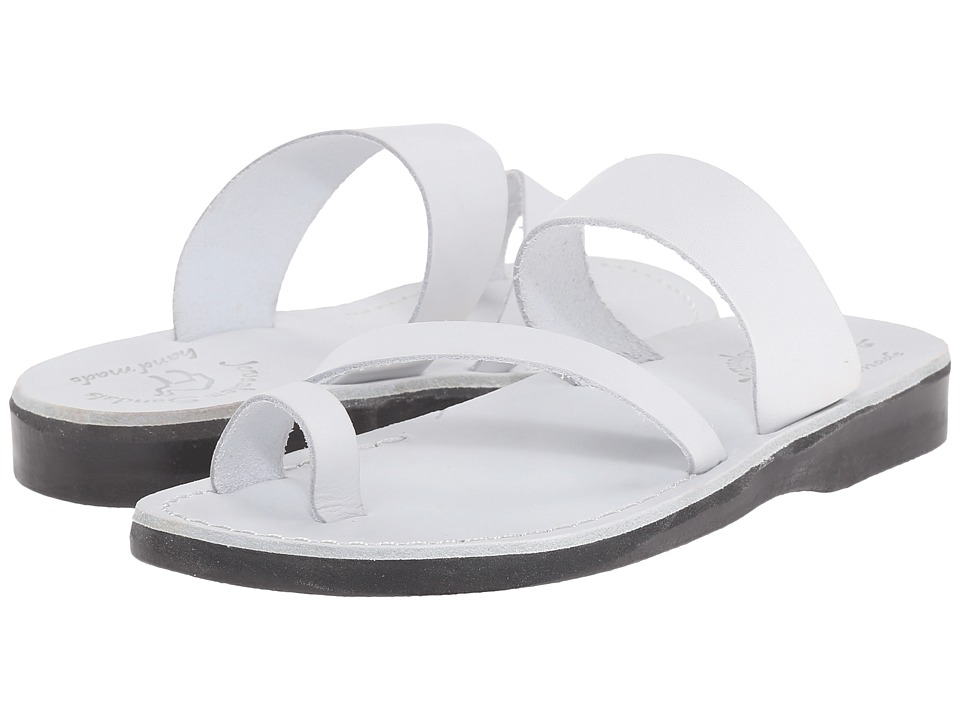 Jerusalem Sandals Zohar Womens White Womens Shoes