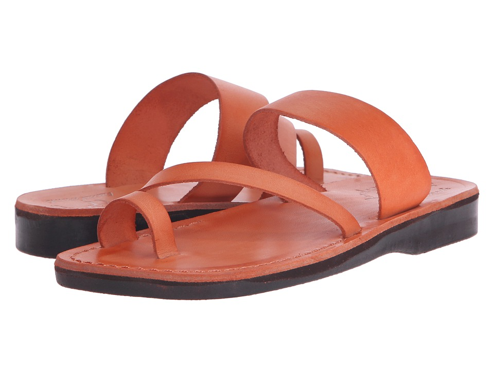 Jerusalem Sandals Zohar Womens Orange Womens Shoes