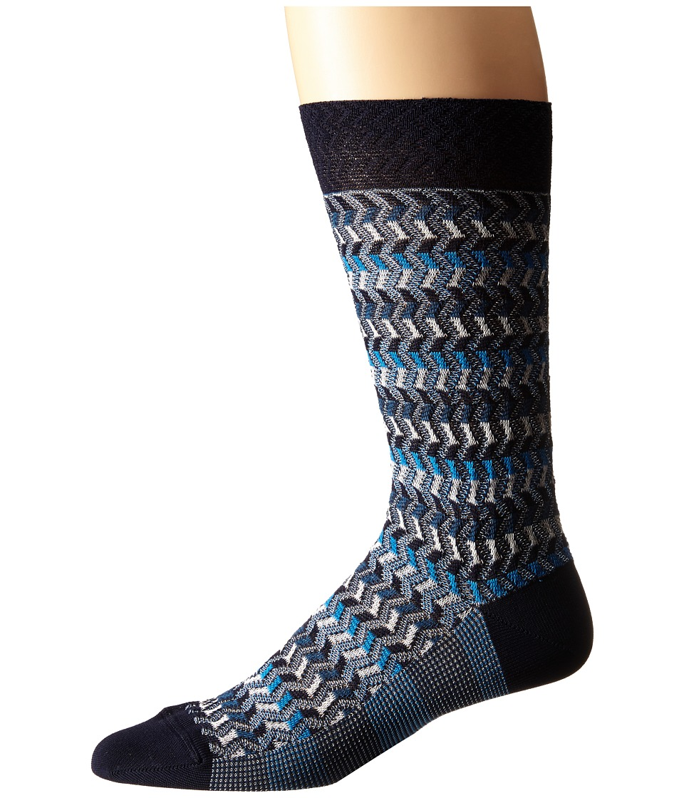 Missoni CA00CMU5444 Blue Mens Crew Cut Socks Shoes