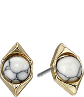Sam Edelman - Double V Stone Stud Earrings