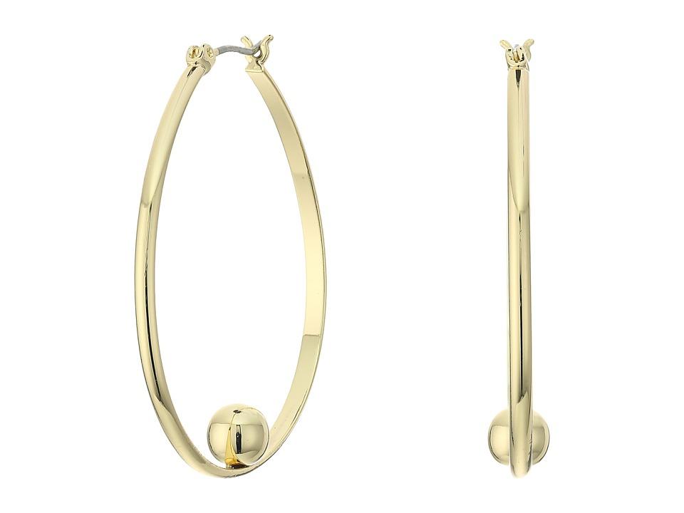 Sam Edelman Bead Hoop Earrings Gold Earring