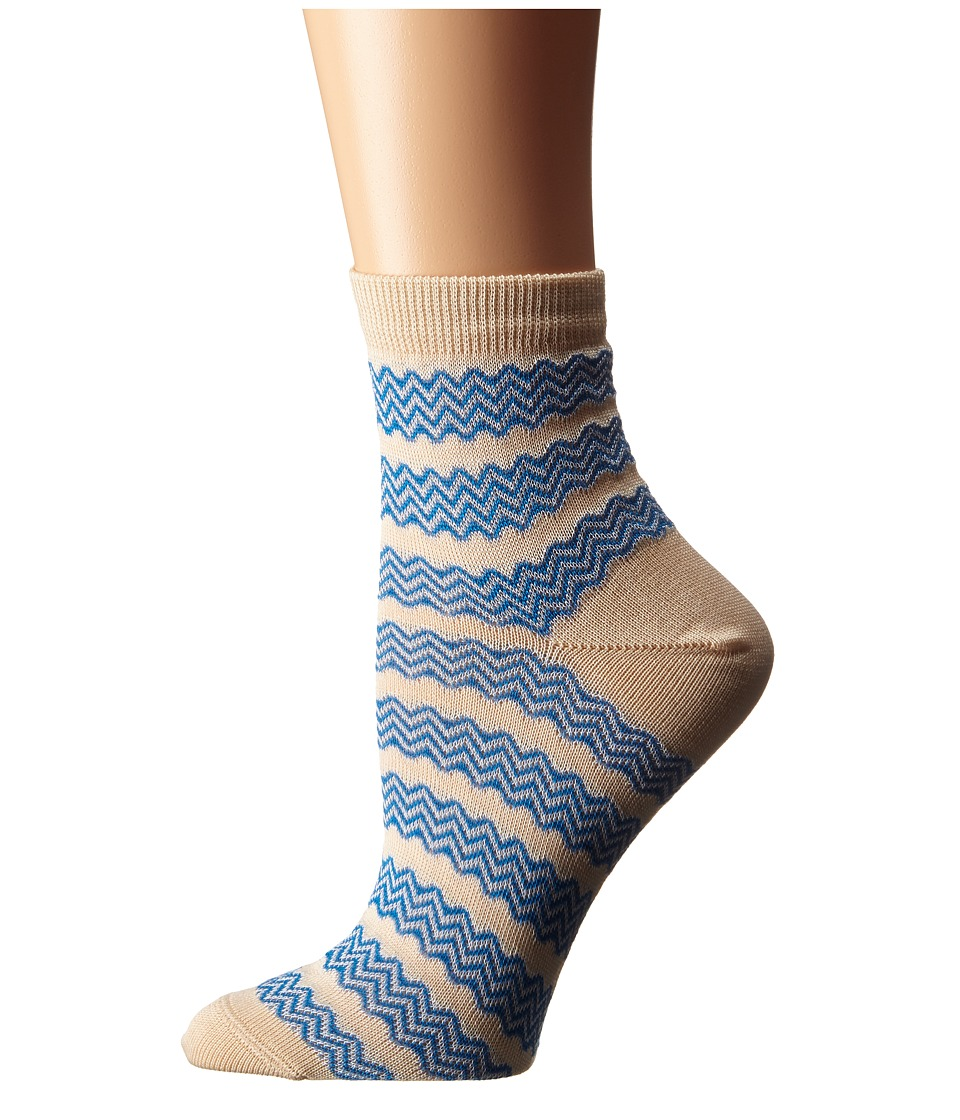 Missoni CA00COD5452 Blue Womens Crew Cut Socks Shoes