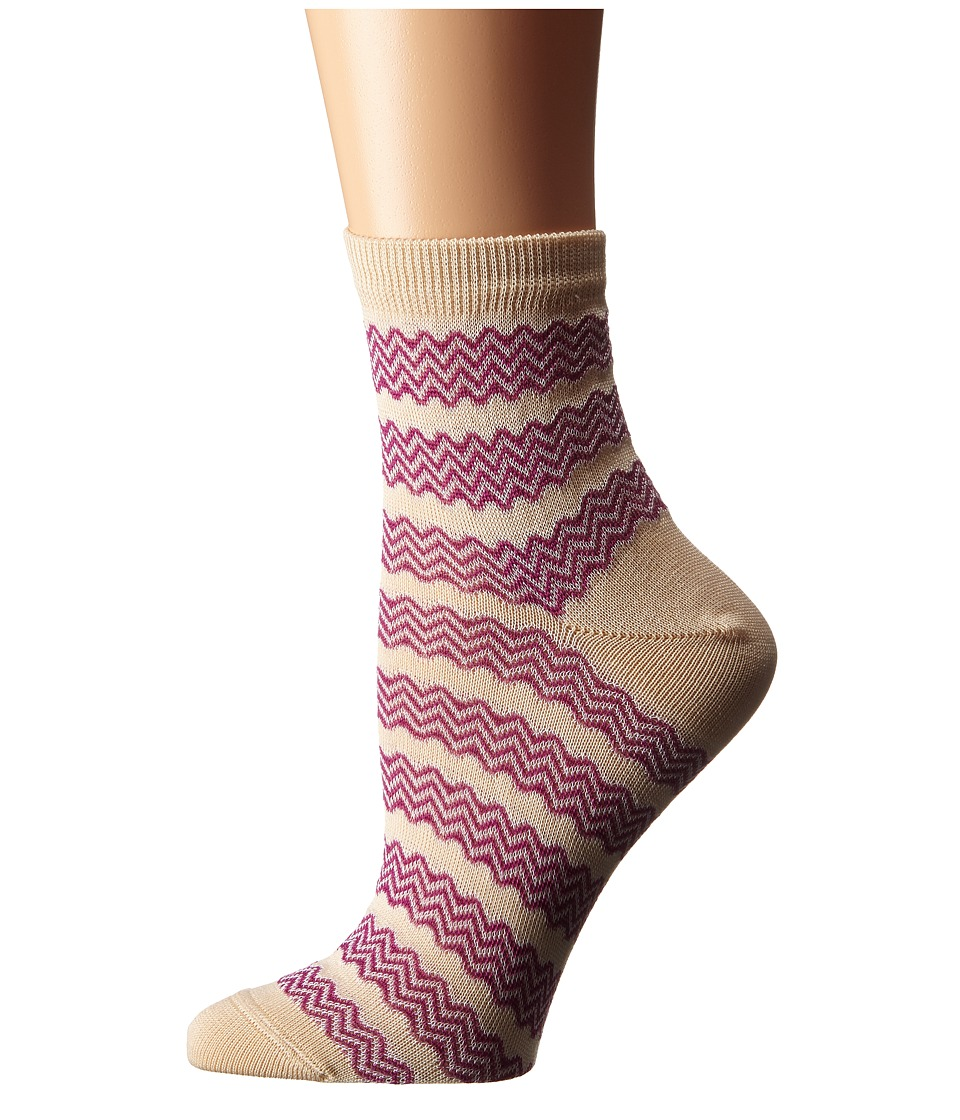 Missoni CA00COD5452 Pink Womens Crew Cut Socks Shoes