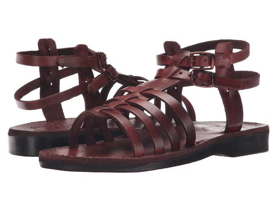 Jerusalem Sandals Leah Womens Brown Womens Shoes