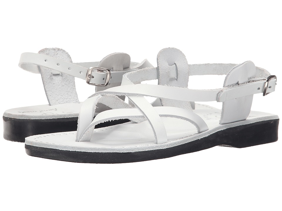 Jerusalem Sandals Tamar Buckle Womens White Womens Shoes