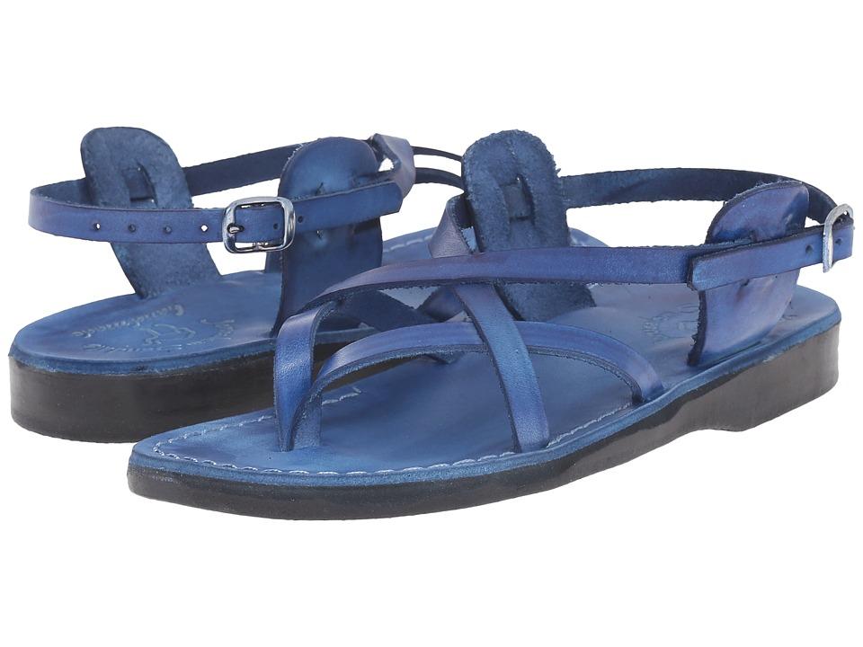 Jerusalem Sandals Tamar Buckle Womens Blue Womens Shoes