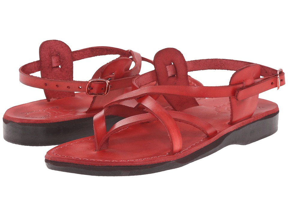 Jerusalem Sandals Tamar Buckle Womens Red Womens Shoes
