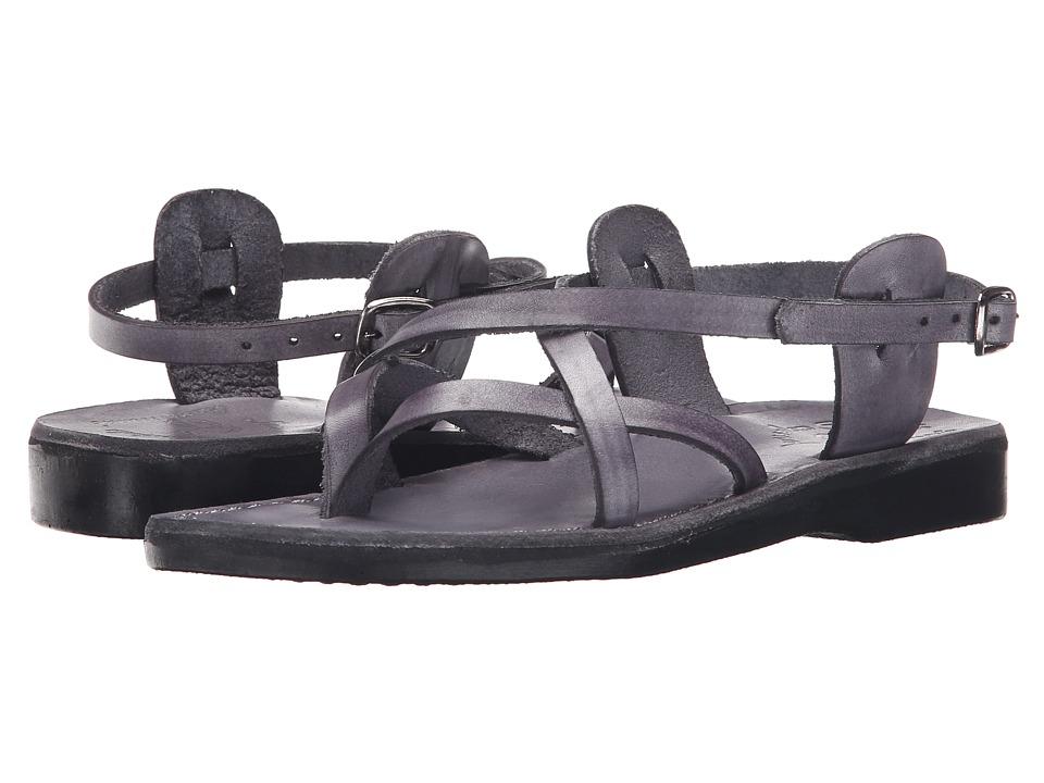 Jerusalem Sandals Tamar Buckle Womens Gray Womens Shoes