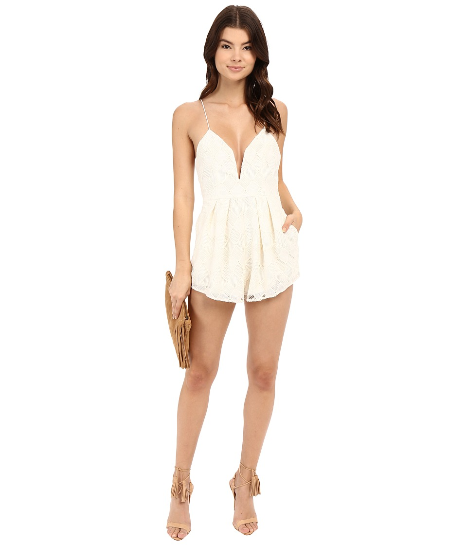 StyleStalker Empire Romper Ivory Womens Jumpsuit Rompers One Piece