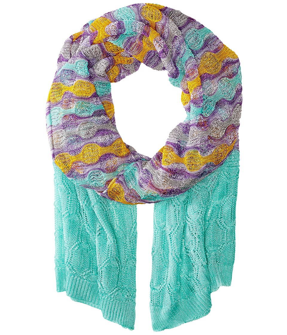 Missoni SC36COD5333 Green/Orange/Purple Scarves