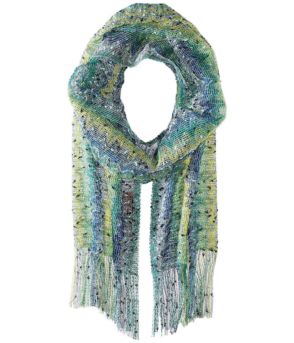 Missoni SC13VMD5399 Green/Blue Scarves