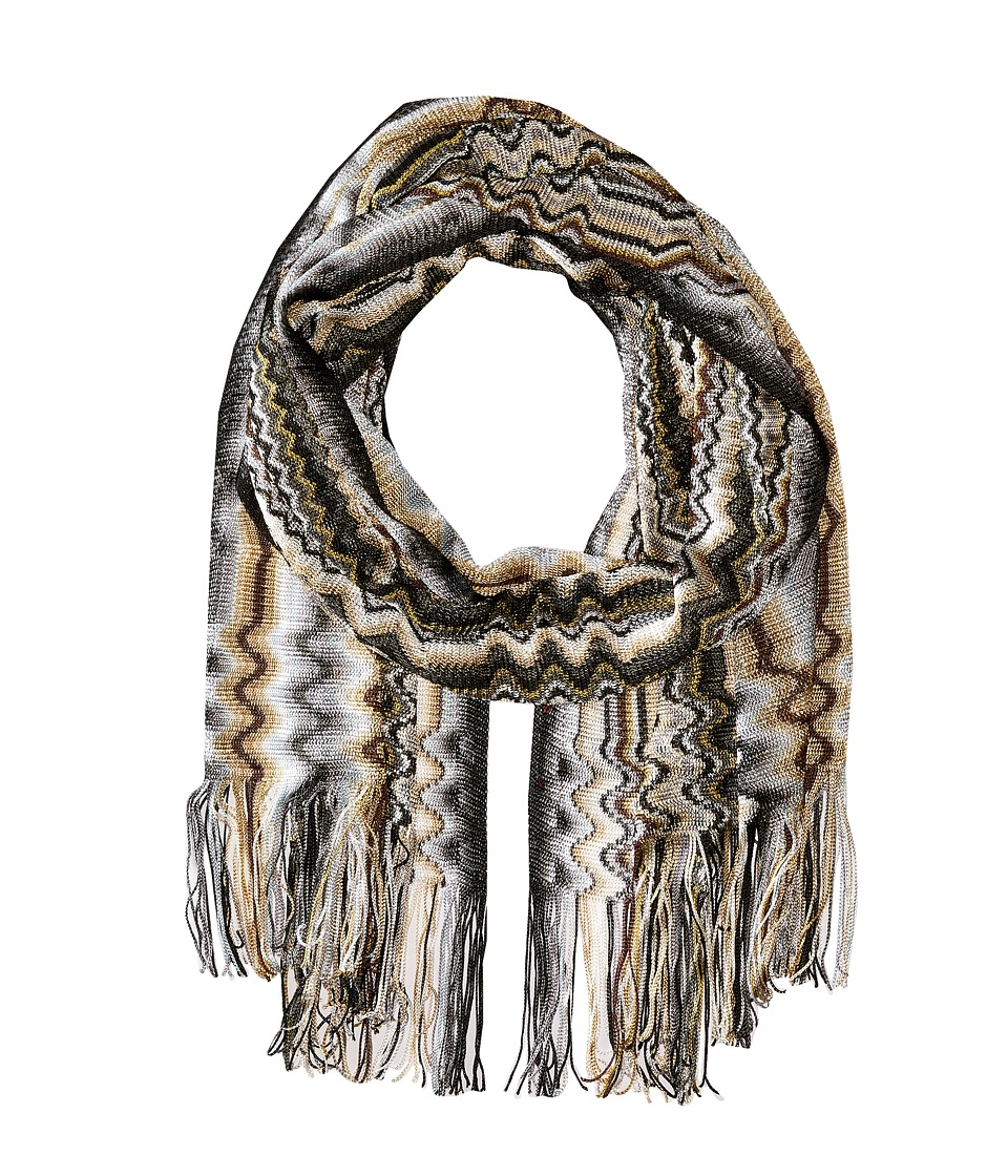 Missoni SC29VID5389 Grey/Black Scarves