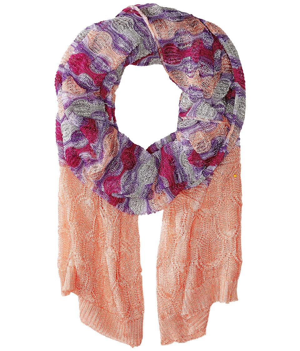 Missoni SA60VMD5347 Coral/Purple Scarves
