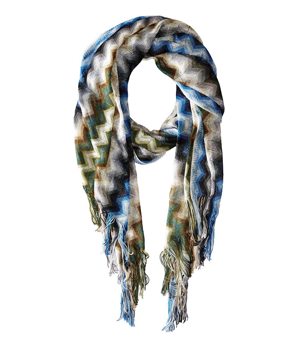 Missoni SA57VID5477 Blue/Green Scarves