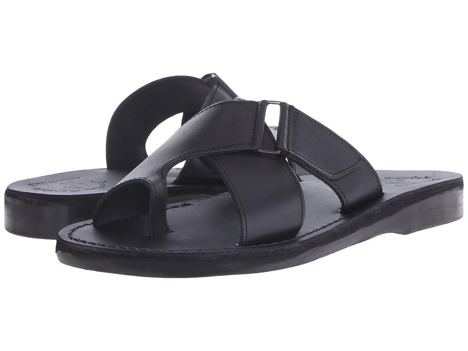 Jerusalem Sandals Asher Mens Black Mens Shoes