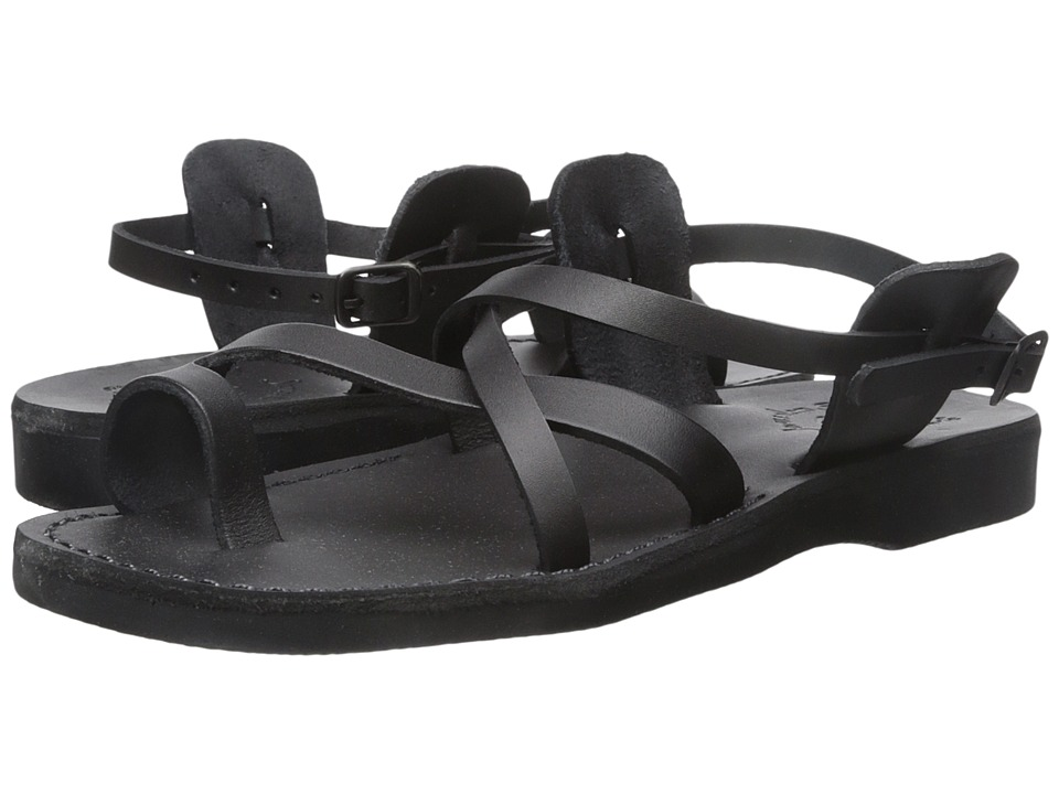 Jerusalem Sandals The Good Shepherd Buckle Mens Black Mens Shoes