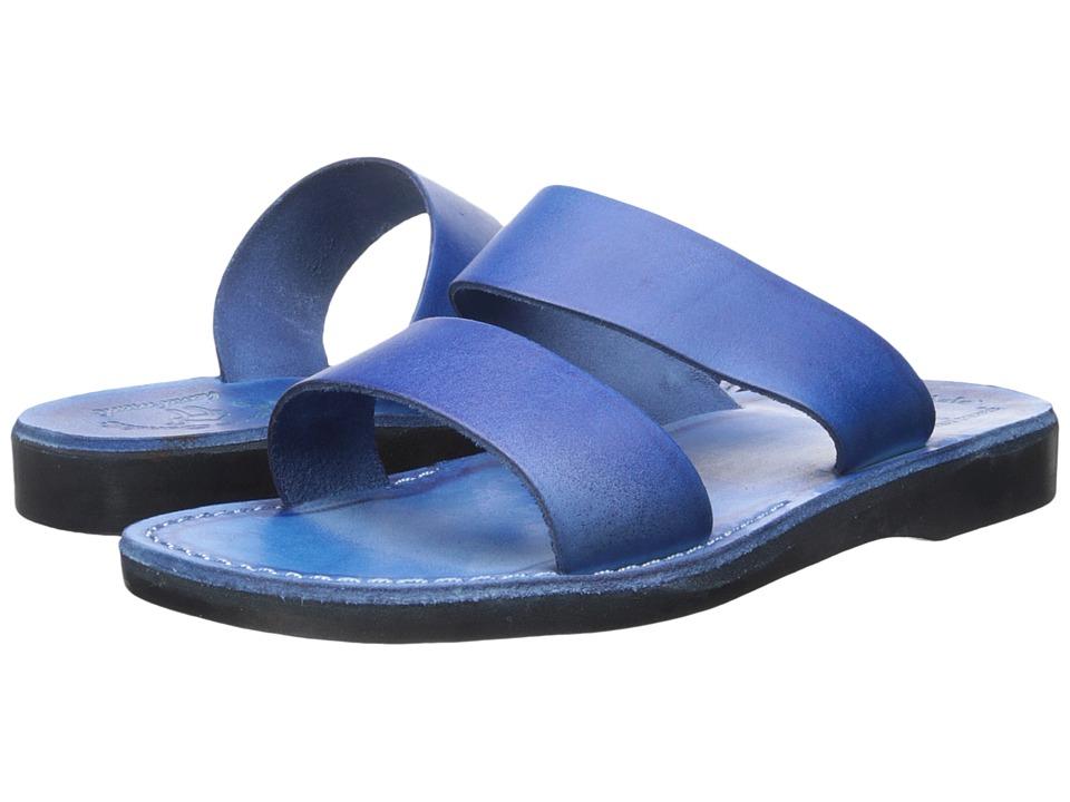 Jerusalem Sandals Aviv Blue Mens Shoes