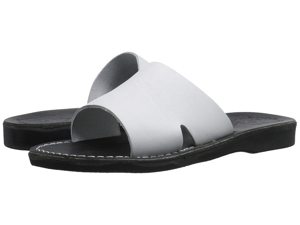 Jerusalem Sandals Bashan Mens Black/White Mens Shoes
