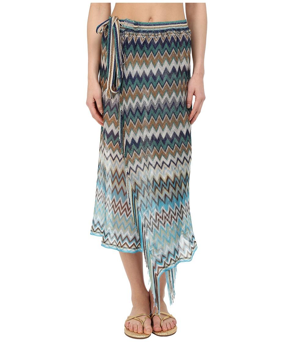 Missoni PRG1VMD5434 Green/Blue Womens Skirt