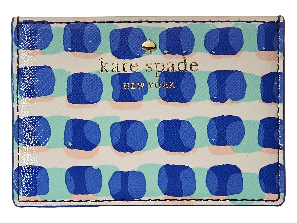 Kate Spade New York Cedar Street Stamp Dot Card Holder Adventure Blue Credit card Wallet