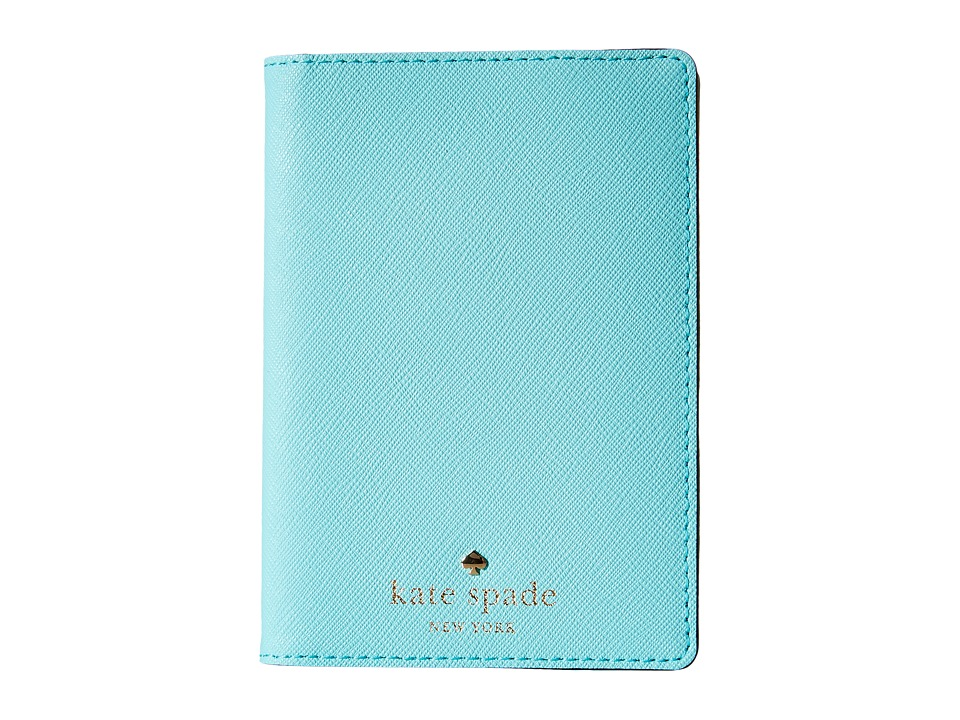 Kate Spade New York Cedar Street Passport Holder Atoll Blue Wallet