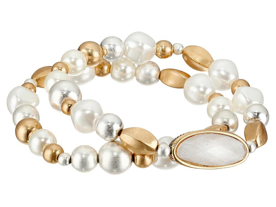 The Sak Pearl Stretch Bracelet Set White Bracelet