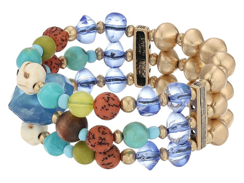 The Sak - Mix Beaded Stretch Bracelet (Blue) Bracelet