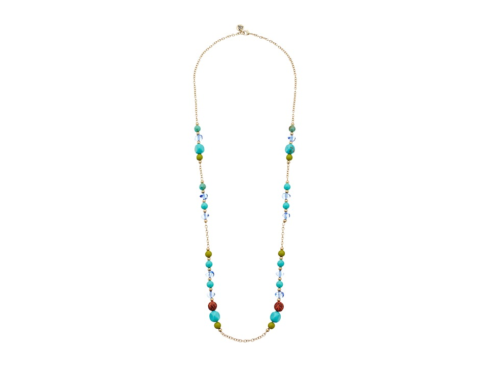 The Sak Beaded Station Necklace 32 Blue Necklace