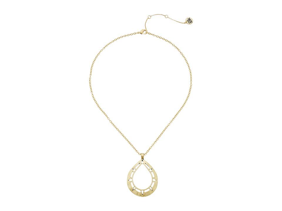 The Sak Pierced Teardrop Pendant Necklace 18 Gold Necklace