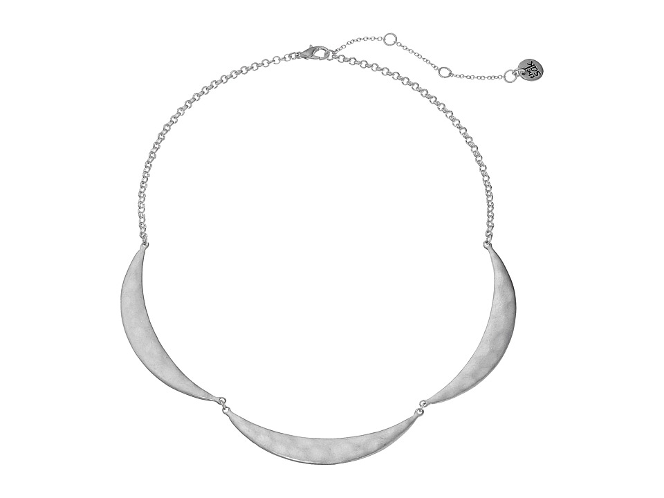 The Sak 3 Crescent Collar Necklace 16 Silver Necklace